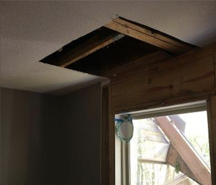 My ceiling has water damage, what do I do? After